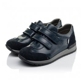 Детские кроссовки Woopy Orthopedic темно-синие для мальчиков натуральная кожа размер 29-36 (3625) Фото 3