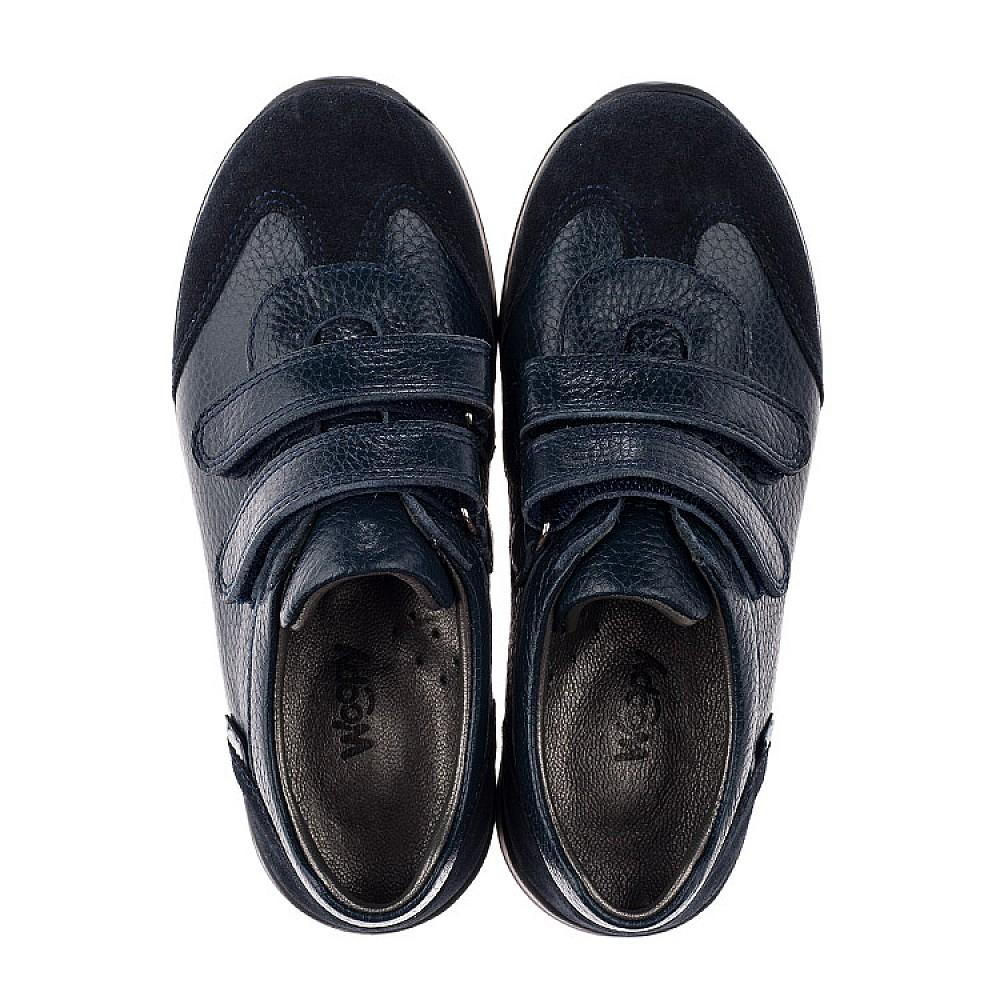 Детские кроссовки Woopy Orthopedic темно-синие для мальчиков натуральная кожа размер 29-36 (3625) Фото 5