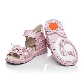 Детские ортопедические босоножки Woopy Orthopedic розовые для девочек натуральная кожа размер - (3626) Фото 2