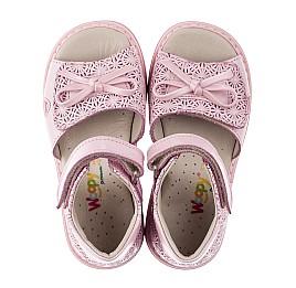 Детские ортопедические босоножки Woopy Orthopedic розовые для девочек натуральная кожа размер - (3626) Фото 5