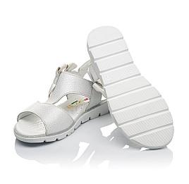 Детские босоножки Woopy Orthopedic серебряные для девочек натуральная кожа размер 30-36 (3628) Фото 2