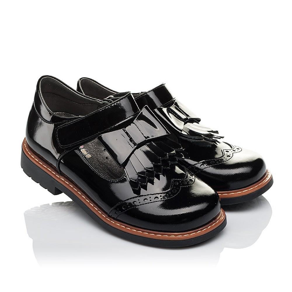 Детские туфли Woopy Orthopedic черные для девочек натуральная лаковая кожа размер 29-34 (3632) Фото 1