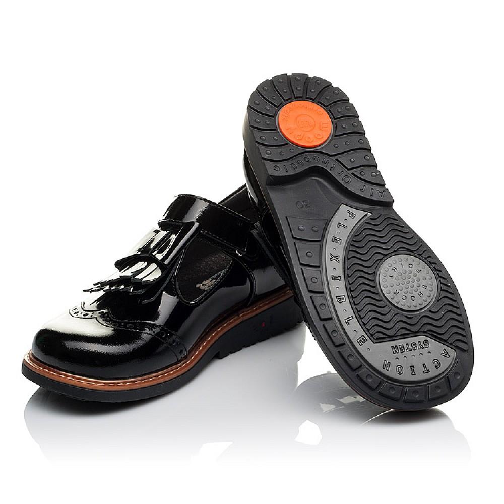 Детские туфли Woopy Orthopedic черные для девочек натуральная лаковая кожа размер 29-34 (3632) Фото 2