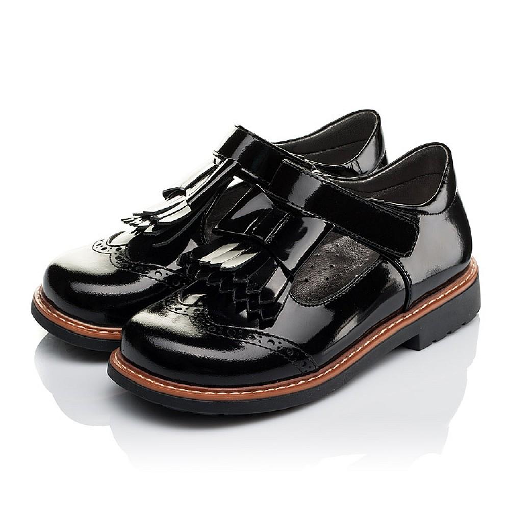 Детские туфли Woopy Orthopedic черные для девочек натуральная лаковая кожа размер 29-34 (3632) Фото 3
