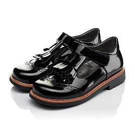 Детские туфли Woopy Orthopedic черные для девочек натуральная лаковая кожа размер 29-33 (3632) Фото 3