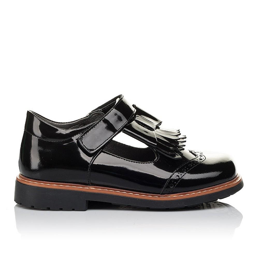 Детские туфли Woopy Orthopedic черные для девочек натуральная лаковая кожа размер 29-34 (3632) Фото 4