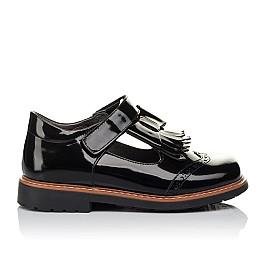 Детские туфли Woopy Orthopedic черные для девочек натуральная лаковая кожа размер 29-33 (3632) Фото 4
