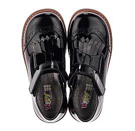 Детские туфли Woopy Orthopedic черные для девочек натуральная лаковая кожа размер 29-33 (3632) Фото 5