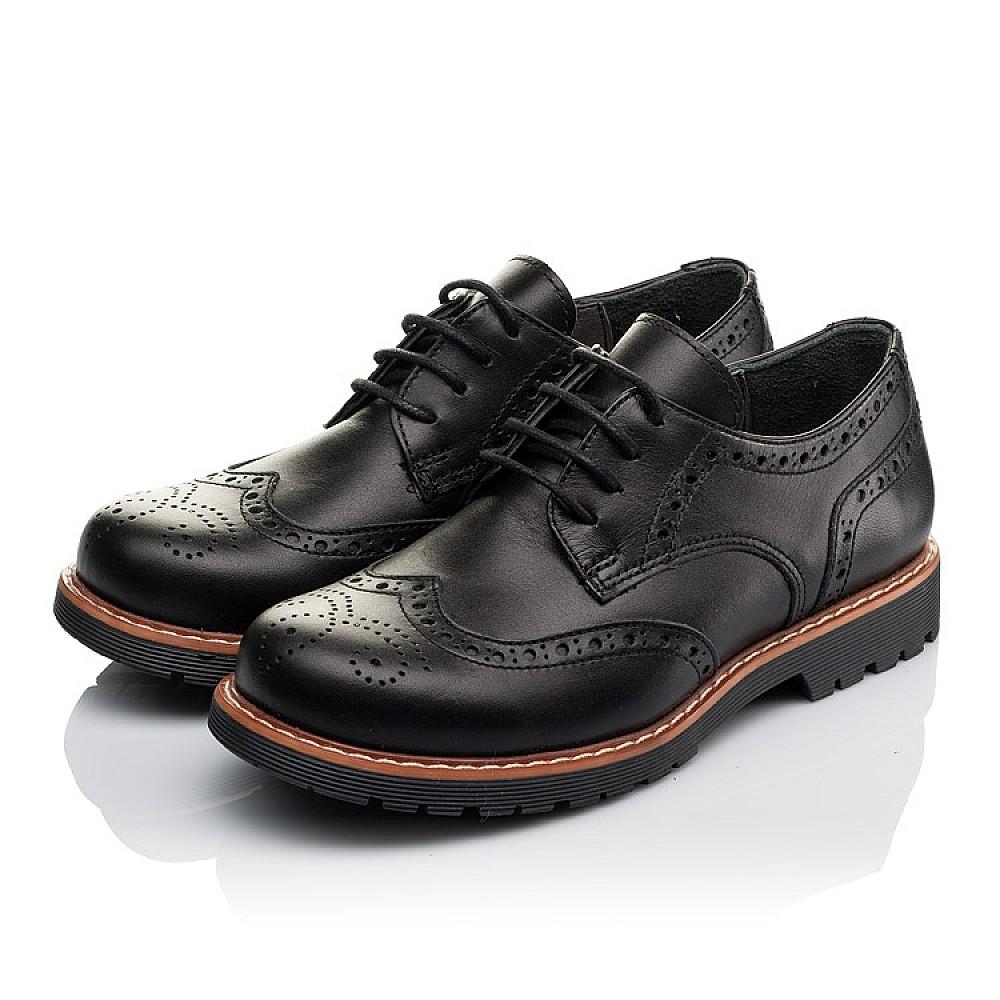 Детские туфлии (шнурок-резинка) Woopy Orthopedic черные для мальчиков натуральная кожа размер 32-37 (3633) Фото 3