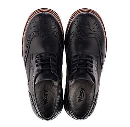 Детские туфлии (шнурок-резинка) Woopy Orthopedic черные для мальчиков натуральная кожа размер - (3633) Фото 5