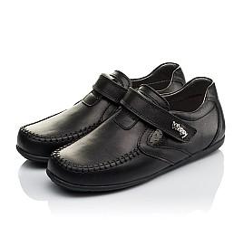 Детские туфли Woopy Orthopedic черные для мальчиков  натуральная кожа размер 32-37 (3634) Фото 3