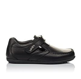 Детские туфли Woopy Orthopedic черные для мальчиков  натуральная кожа размер 32-37 (3634) Фото 4