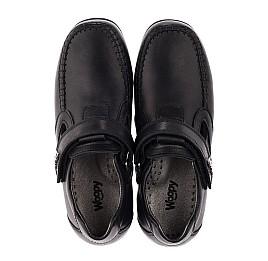 Детские туфли Woopy Orthopedic черные для мальчиков  натуральная кожа размер 32-37 (3634) Фото 5