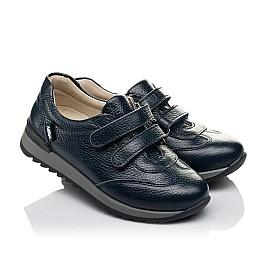 Детские кроссовки Woopy Orthopedic синие для мальчиков натуральная кожа размер 29-39 (3635) Фото 1