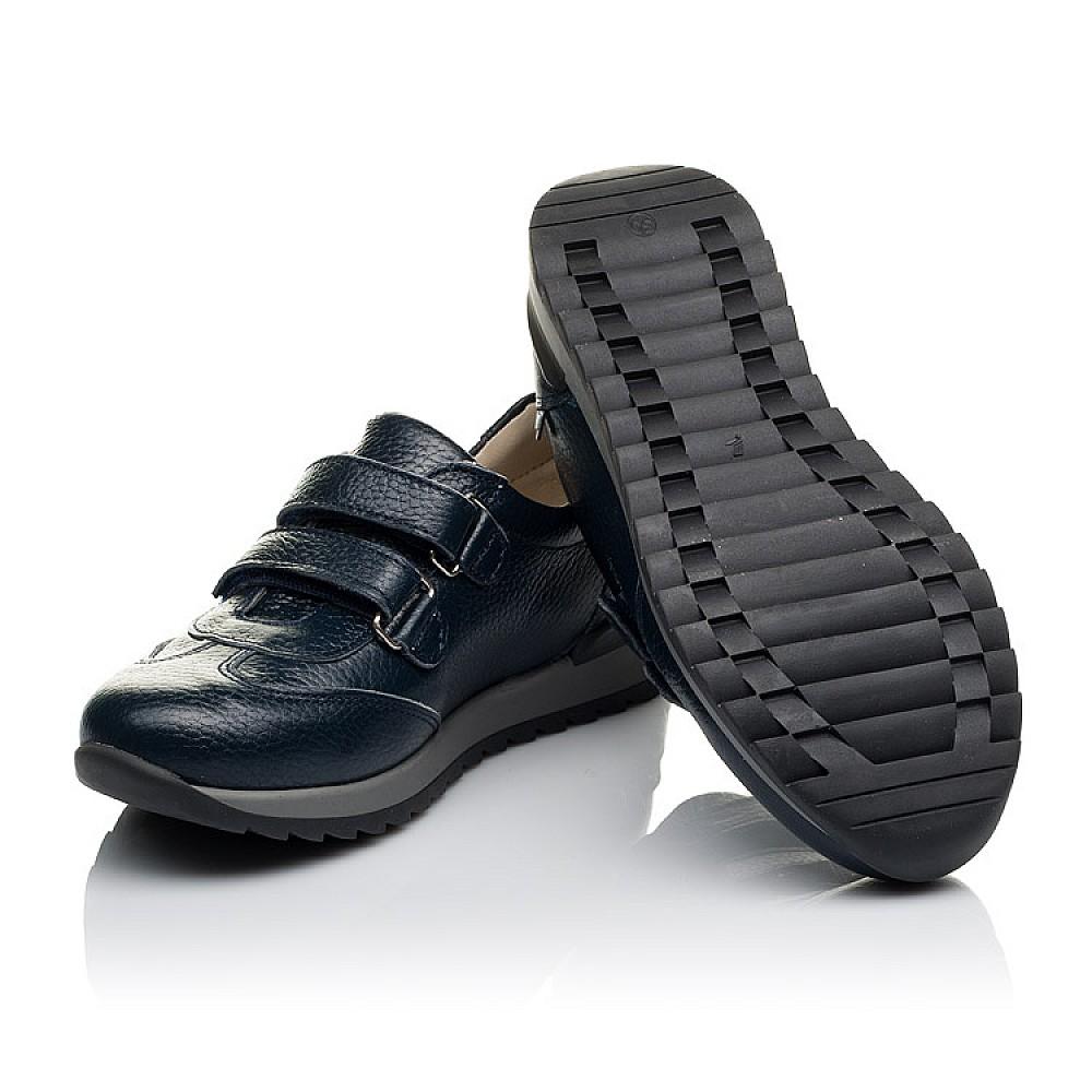 Детские кроссовки Woopy Orthopedic синие для мальчиков натуральная кожа размер 29-39 (3635) Фото 2