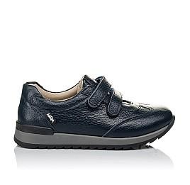 Детские кроссовки Woopy Orthopedic синие для мальчиков натуральная кожа размер 29-39 (3635) Фото 4