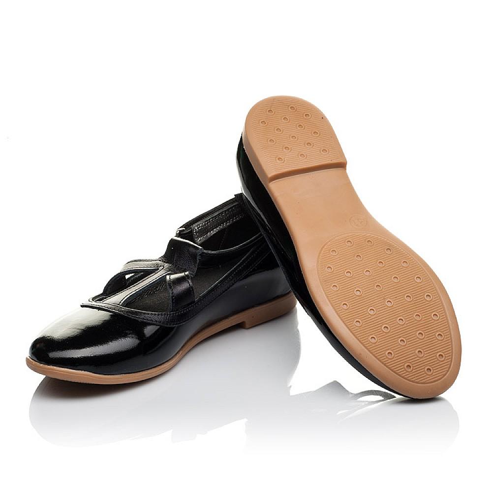 Детские туфли Woopy Orthopedic черные для девочек натуральная лаковая кожа размер 30-37 (3636) Фото 2
