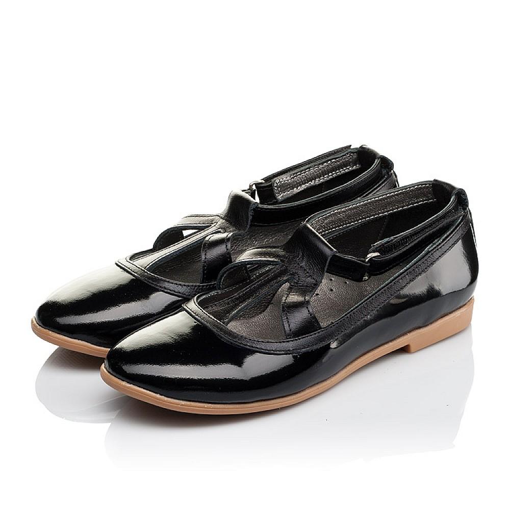 Детские туфли Woopy Orthopedic черные для девочек натуральная лаковая кожа размер 30-37 (3636) Фото 3