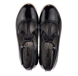 Детские туфли Woopy Orthopedic черные для девочек натуральная лаковая кожа размер 31-37 (3636) Фото 5