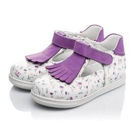 Детские туфли Woopy Orthopedic белые, фиолетовые для девочек  натуральная кожа размер 18-25 (3638) Фото 3