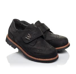 Детские туфли Woopy Orthopedic черные для мальчиков натуральный нубук размер 30-39 (3641) Фото 1