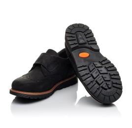 Детские туфли Woopy Orthopedic черные для мальчиков натуральный нубук размер 30-39 (3641) Фото 2