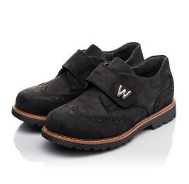 Детские туфли Woopy Orthopedic черные для мальчиков натуральный нубук размер 30-39 (3641) Фото 3