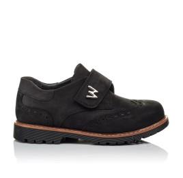 Детские туфли Woopy Orthopedic черные для мальчиков натуральный нубук размер 30-39 (3641) Фото 4