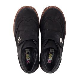 Детские туфли Woopy Orthopedic черные для мальчиков натуральный нубук размер 30-39 (3641) Фото 5