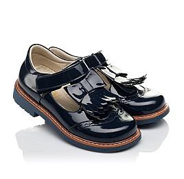 Детские туфли Woopy Orthopedic синие для девочек натуральная лаковая кожа размер 34-34 (3643) Фото 1