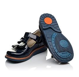 Детские туфли Woopy Orthopedic синие для девочек натуральная лаковая кожа размер 34-34 (3643) Фото 2