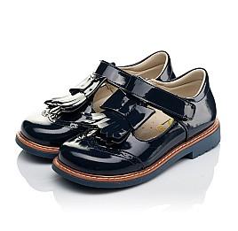 Детские туфли Woopy Orthopedic синие для девочек натуральная лаковая кожа размер 34-34 (3643) Фото 3