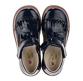 Детские туфли Woopy Orthopedic синие для девочек натуральная лаковая кожа размер 34-34 (3643) Фото 5