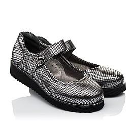 Детские туфли Woopy Orthopedic серебряные для девочек  натуральная кожа размер 35-35 (3644) Фото 1
