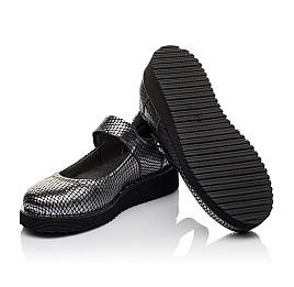 Детские туфли Woopy Orthopedic серебряные для девочек  натуральная кожа размер 35-35 (3644) Фото 2