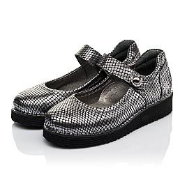 Детские туфли Woopy Orthopedic серебряные для девочек  натуральная кожа размер 35-35 (3644) Фото 3