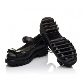 Детские туфли (застежка липучка) Woopy Orthopedic черные для девочек натуральная кожа размер 31-40 (3645) Фото 2