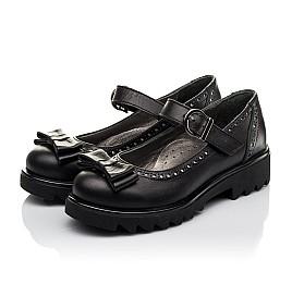 Детские туфли (застежка липучка) Woopy Orthopedic черные для девочек натуральная кожа размер 31-40 (3645) Фото 3