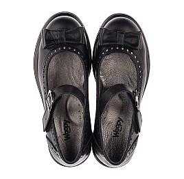 Детские туфли (застежка липучка) Woopy Orthopedic черные для девочек натуральная кожа размер 31-40 (3645) Фото 5