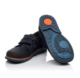Детские туфли Woopy Orthopedic синие для мальчиков натуральный нубук размер - (3646) Фото 2