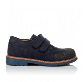 Детские туфли Woopy Orthopedic синие для мальчиков натуральный нубук размер - (3646) Фото 4