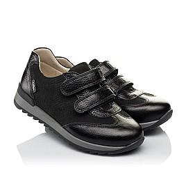 Детские кроссовки Woopy Orthopedic черные для мальчиков натуральная кожа и нубук размер 30-39 (3648) Фото 1