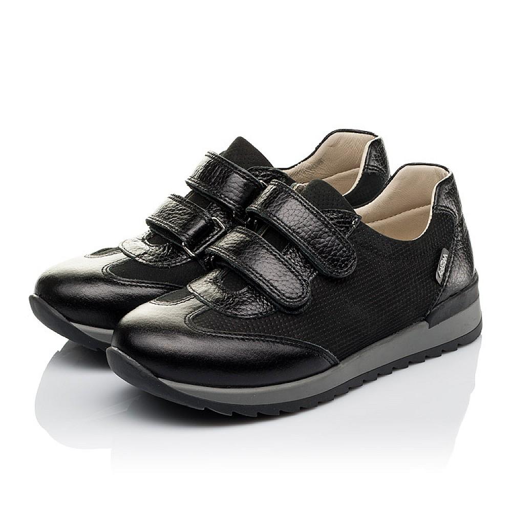 Детские кроссовки Woopy Orthopedic черные для мальчиков натуральная кожа и нубук размер 30-39 (3648) Фото 3