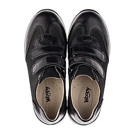 Детские кроссовки Woopy Orthopedic черные для мальчиков натуральная кожа и нубук размер 30-39 (3648) Фото 5