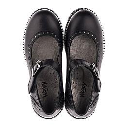 Детские туфли (застежка липучка) Woopy Orthopedic черные для девочек натуральная кожа размер 29-37 (3649) Фото 5