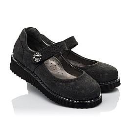 Детские туфли Woopy Orthopedic черные для девочек натуральный нубук размер 30-35 (3650) Фото 1