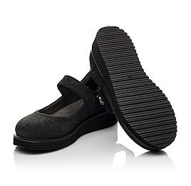 Детские туфли Woopy Orthopedic черные для девочек натуральный нубук размер 30-35 (3650) Фото 2