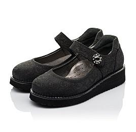 Детские туфли Woopy Orthopedic черные для девочек натуральный нубук размер 30-35 (3650) Фото 3
