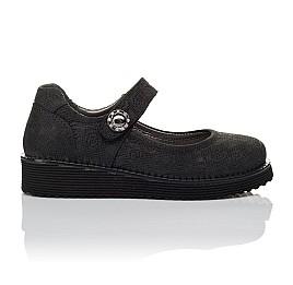 Детские туфли Woopy Orthopedic черные для девочек натуральный нубук размер 30-35 (3650) Фото 4