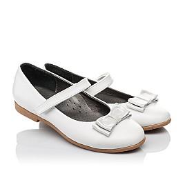 Детские туфли Woopy Orthopedic белые для девочек натуральная кожа размер 30-37 (3651) Фото 1